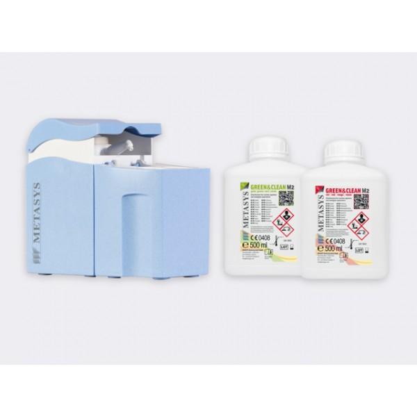 Green&Clean M2 INTRO KIT solutie pentru curatarea sistemelor de aspiratie/ separatoarelor de amalgam Metasys