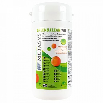 Green&Clean WD cutie 120 buc servetele dezinfectante cu alcool Metasys