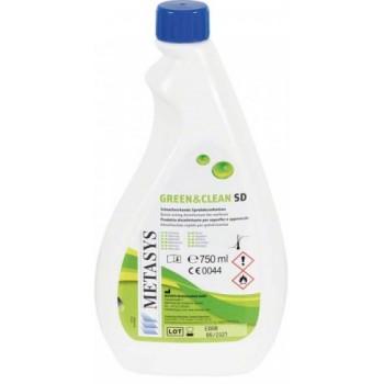 Green&Clean SD 750 ml refill dezinfectant spray cu alcool pentru suprafete Metasys