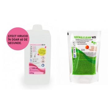 Green&Clean HD N 1L Metasys dezinfectant chirurgical maini + Green&Clean servetele dezinfectante refill 120 buc