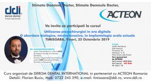Curs - Utilizarea piezochirurgiei in era digitala O abordare biologica, minim invaziva, in implantologia orala actuala