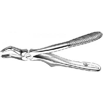 Cleşte extracţie Klein, cu arc, molari superiori