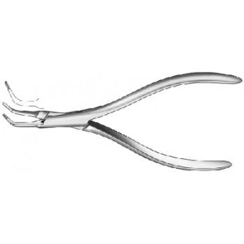 Cleşte universal pentru recuperarea fragmentelor de instrumente sau os din canalul radicular