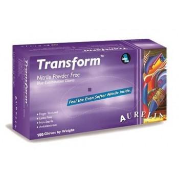 Manusi nitril nepudrate TRANSFORM albastre 100 buc