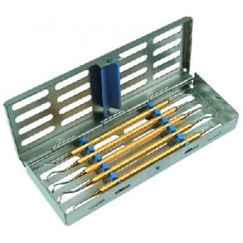 Set instrumente PolyFill în casoletă sterilizare 3011, conţine: 1051/12A, 94, 95, 108, 1084EXD5
