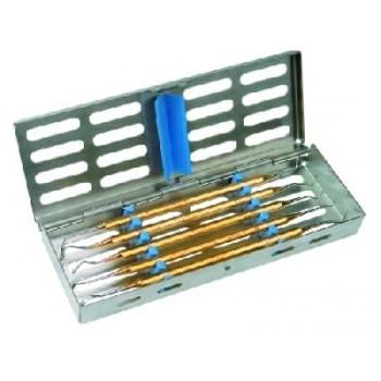 Set instrumente PolyFill în casoletă sterilizare 3011, conţine: 1051/14, 15, 95, 109, 154